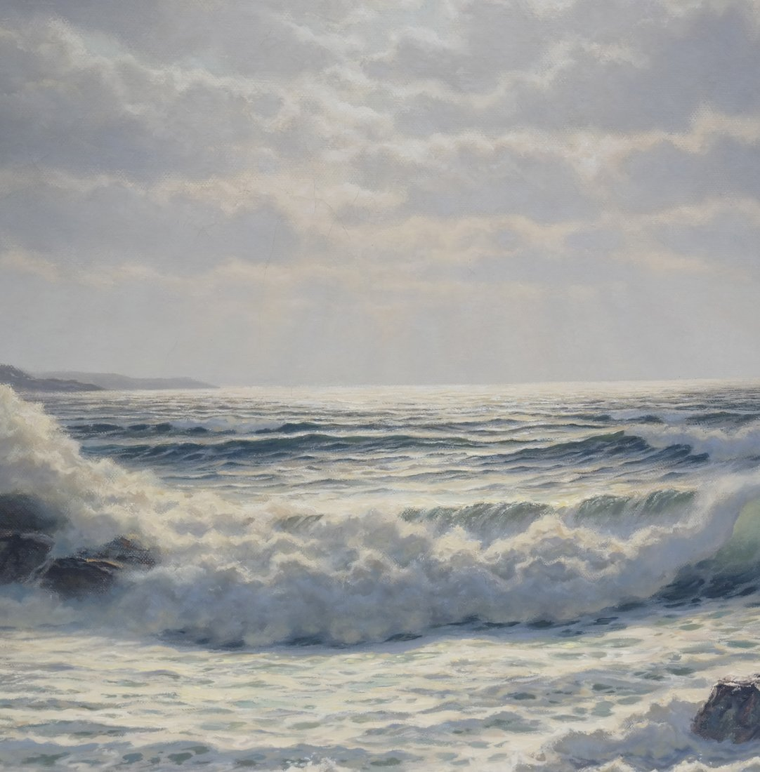 Verra Hull, Seascape, Oil on Canvas - 3