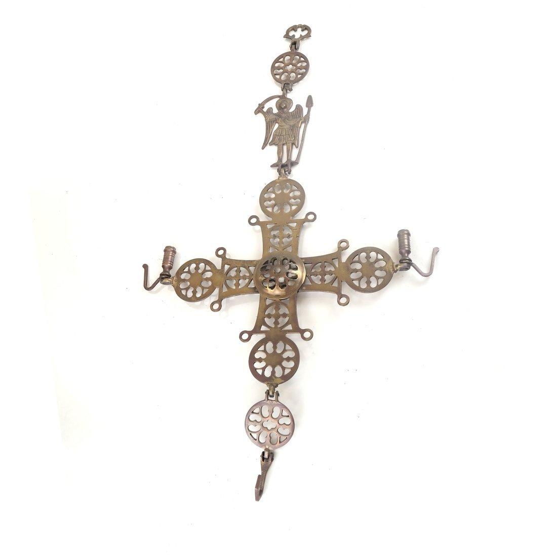 Brass Reticulated Cross