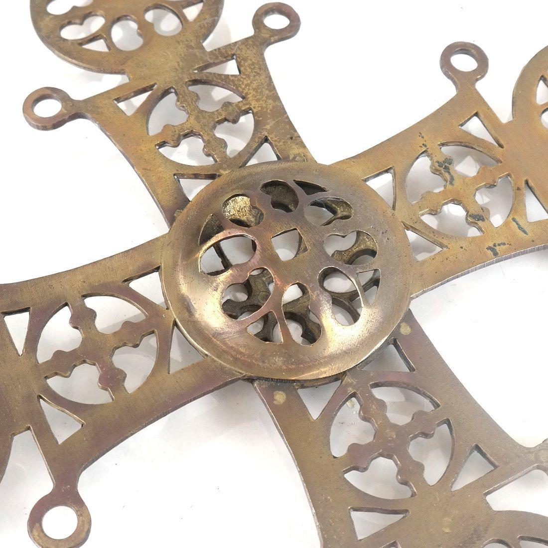 Brass Reticulated Cross - 4