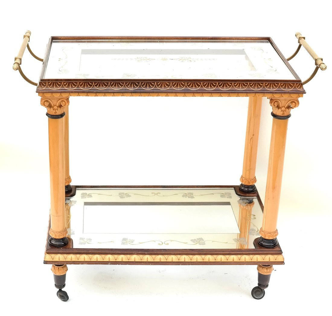 Two Tier Mirrored Service Cart