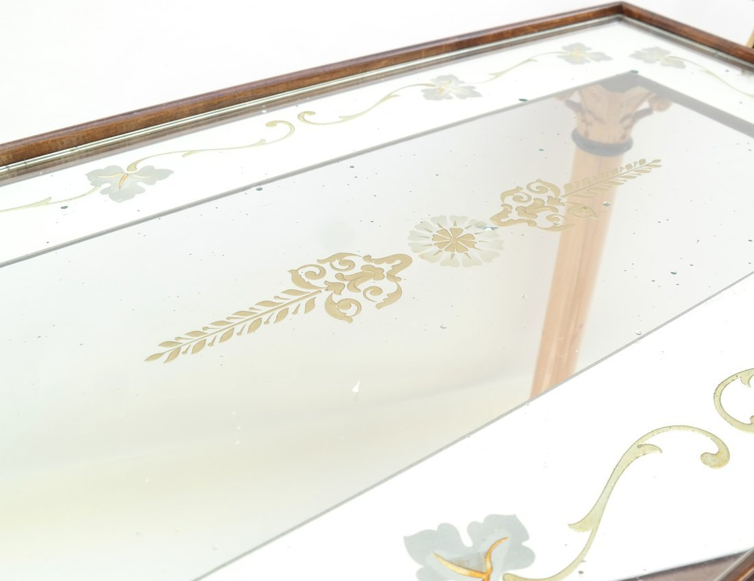 Two Tier Mirrored Service Cart - 5