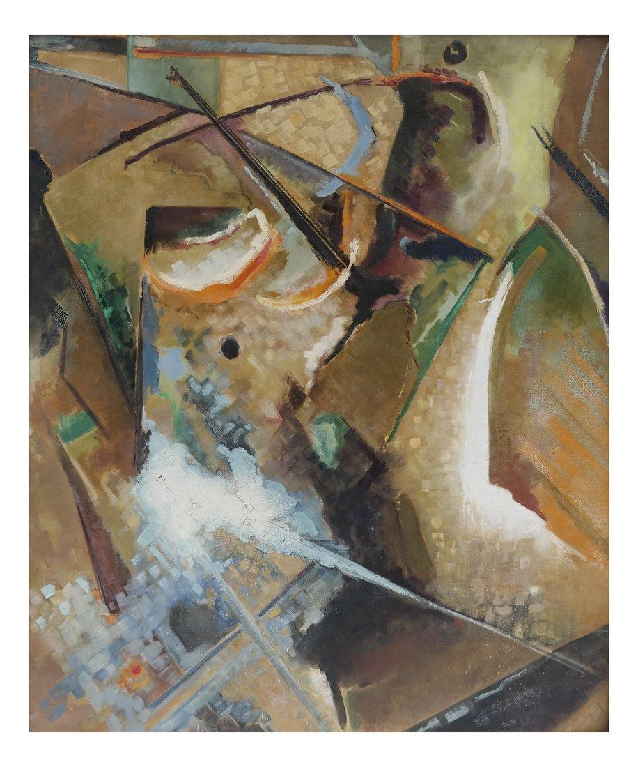 Frank Swartzlander Abstract Oil/Masonite