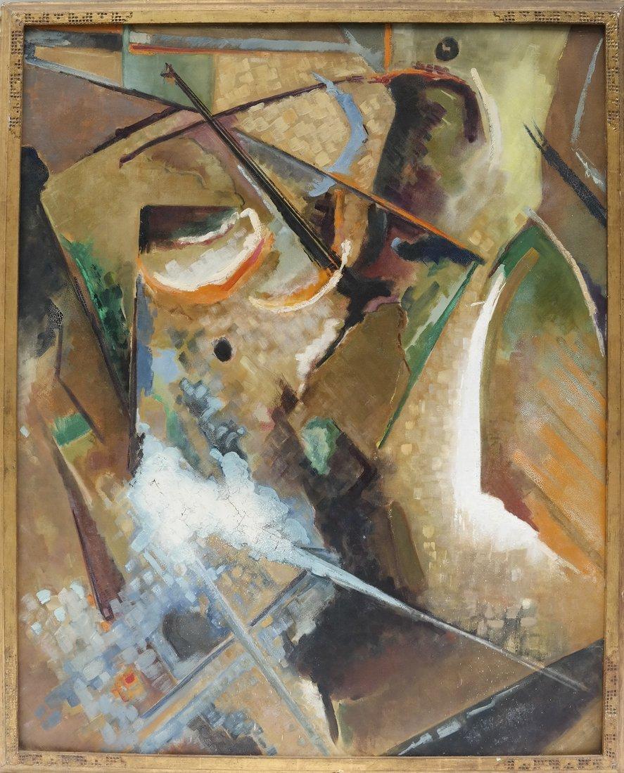 Frank Swartzlander Abstract Oil/Masonite - 2