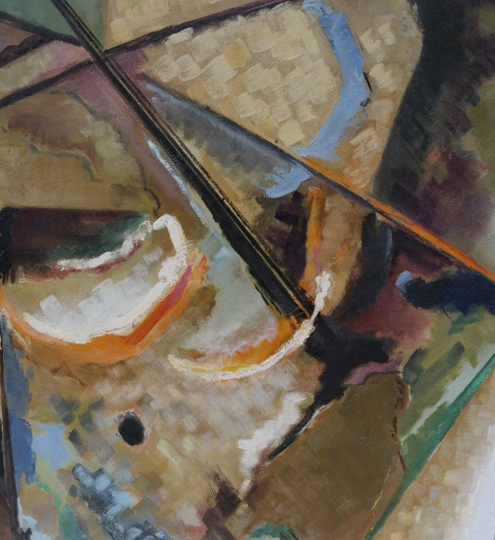 Frank Swartzlander Abstract Oil/Masonite - 3