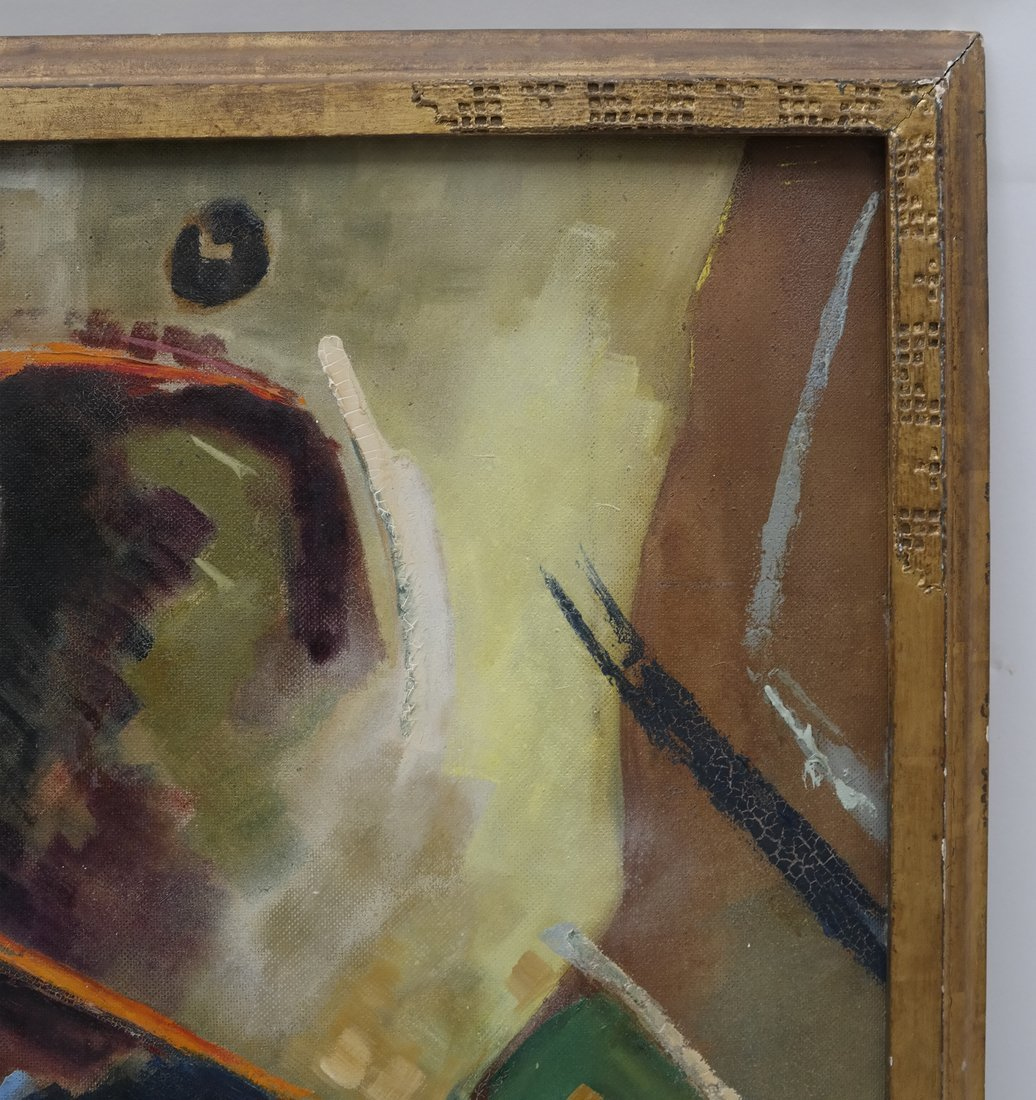 Frank Swartzlander Abstract Oil/Masonite - 4