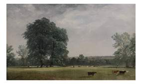 Landscape with Cows Oil on Canvas