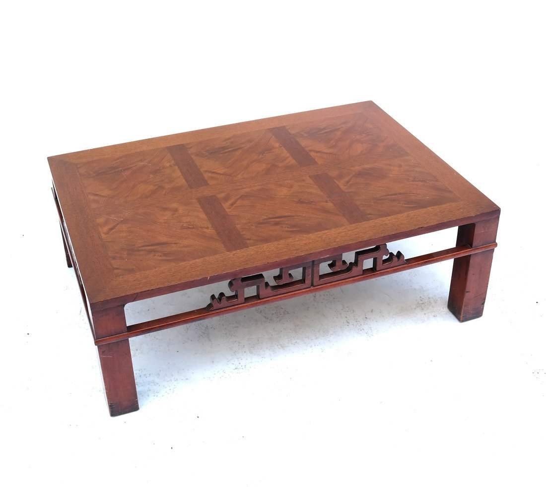 """Heritage"" Asian-Style Oak Coffee Table"