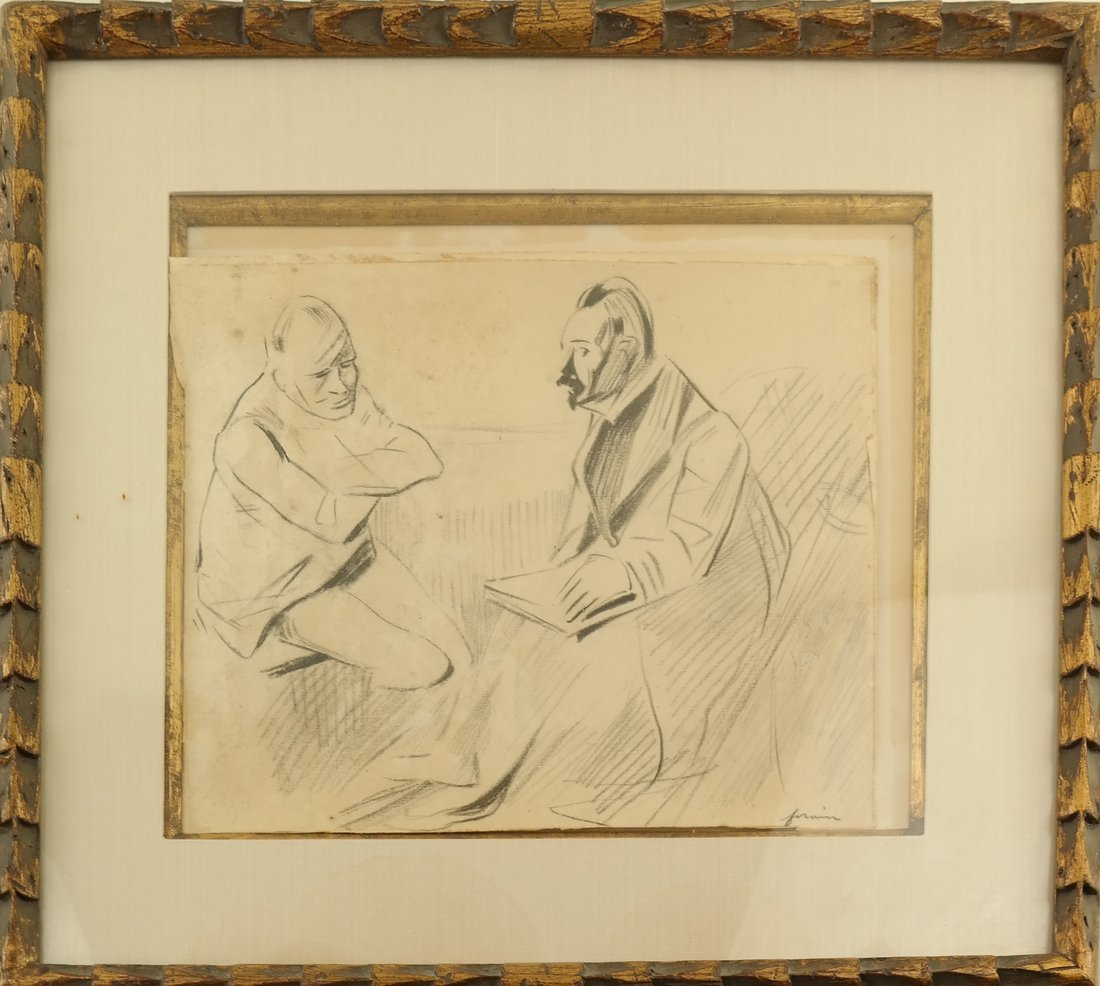 Jean-Louis Forian, Charcoal on Paper - 2