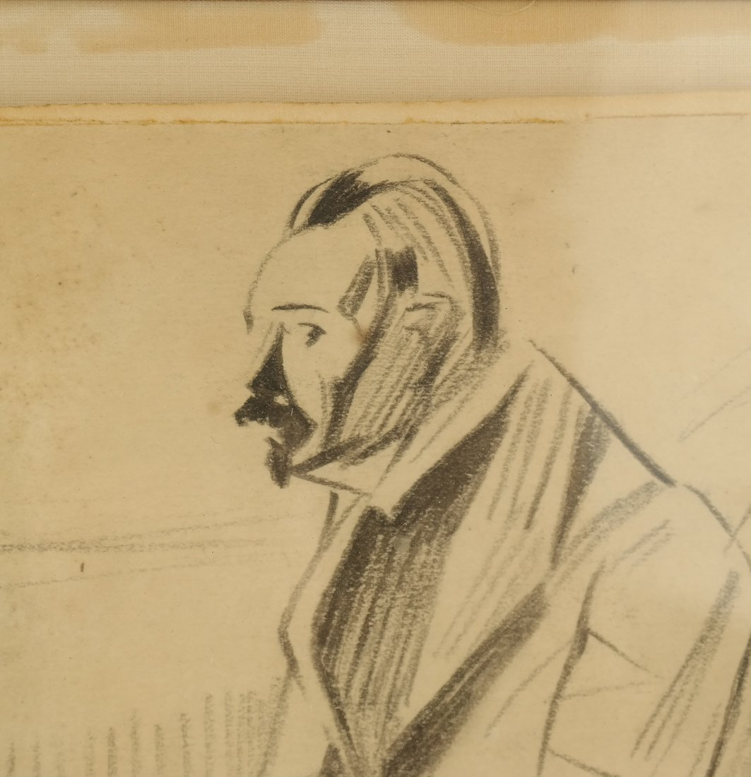 Jean-Louis Forian, Charcoal on Paper - 4