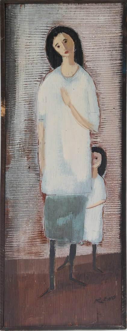 R. Eno, Mother and Child- Mixed Media - 2
