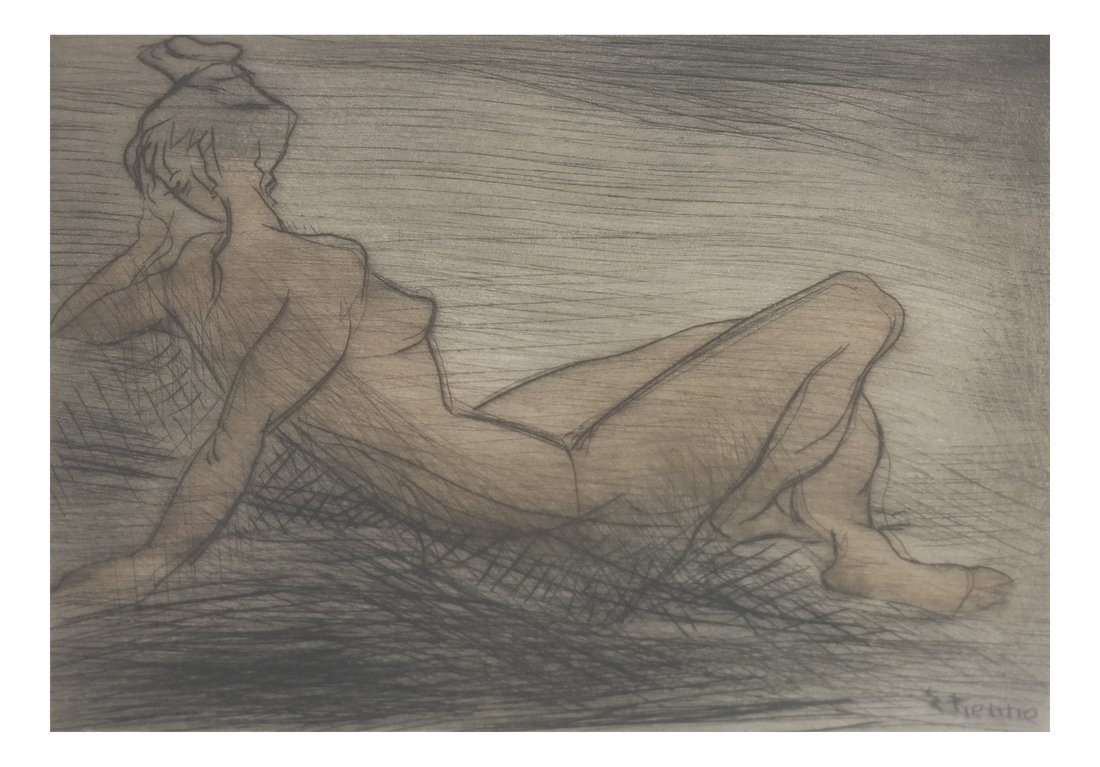 Etienne Ret, Nude Female Etching