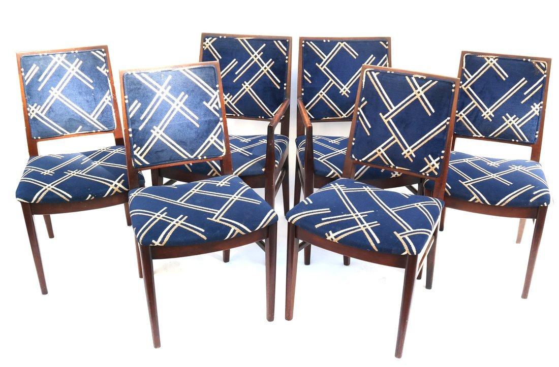 Six John Stewart Modern Dining Chairs