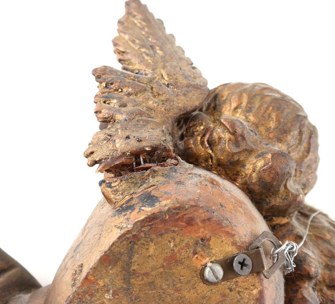 Antique Carved Gilt Cupid Decoration - 3