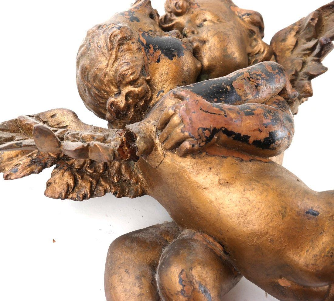 Antique Carved Gilt Cupid Decoration - 4
