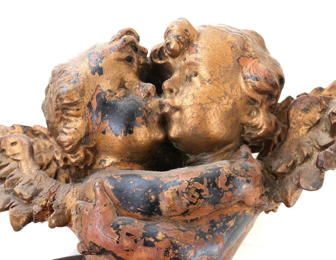 Antique Carved Gilt Cupid Decoration - 6