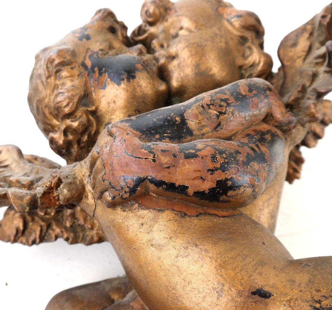 Antique Carved Gilt Cupid Decoration - 7