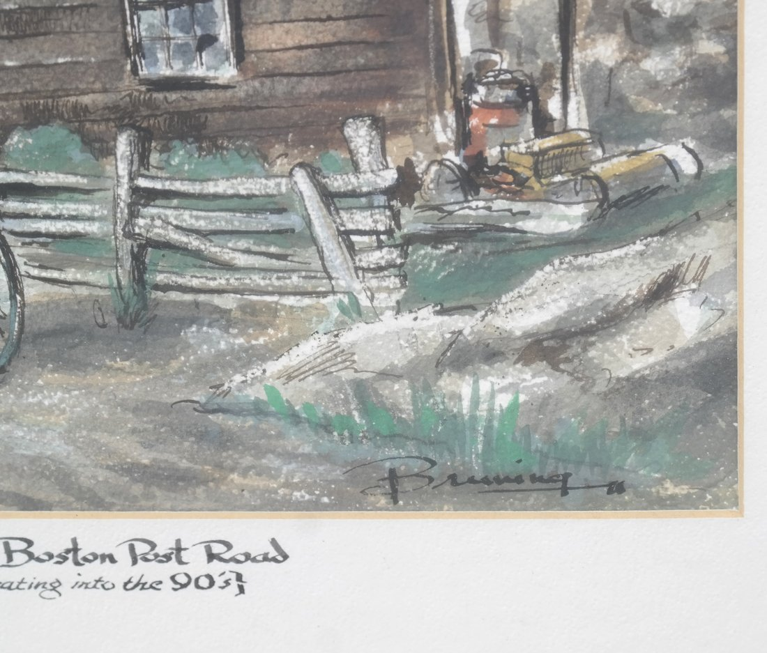 Two Watercolors of New York - 4