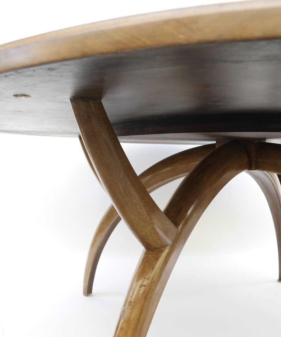 Modern Round Teak Table - 3