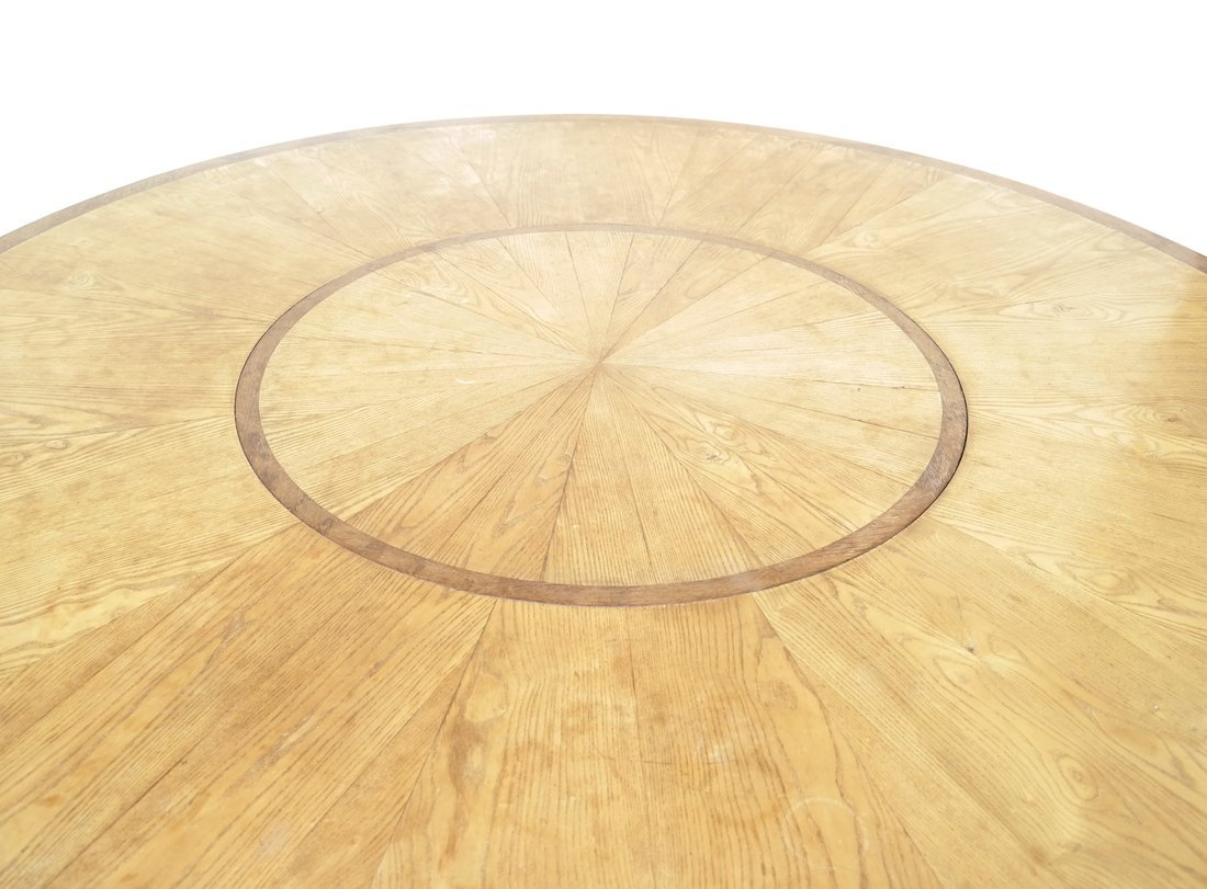 Modern Round Teak Table - 4