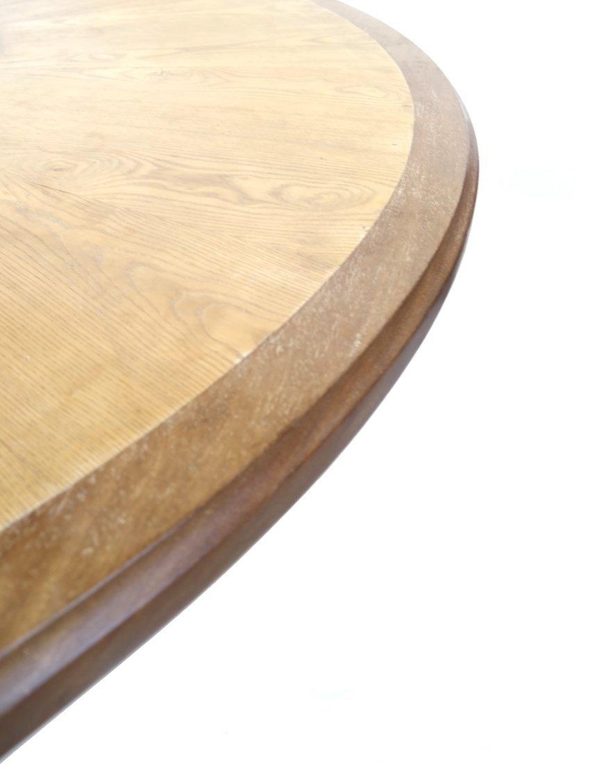 Modern Round Teak Table - 6
