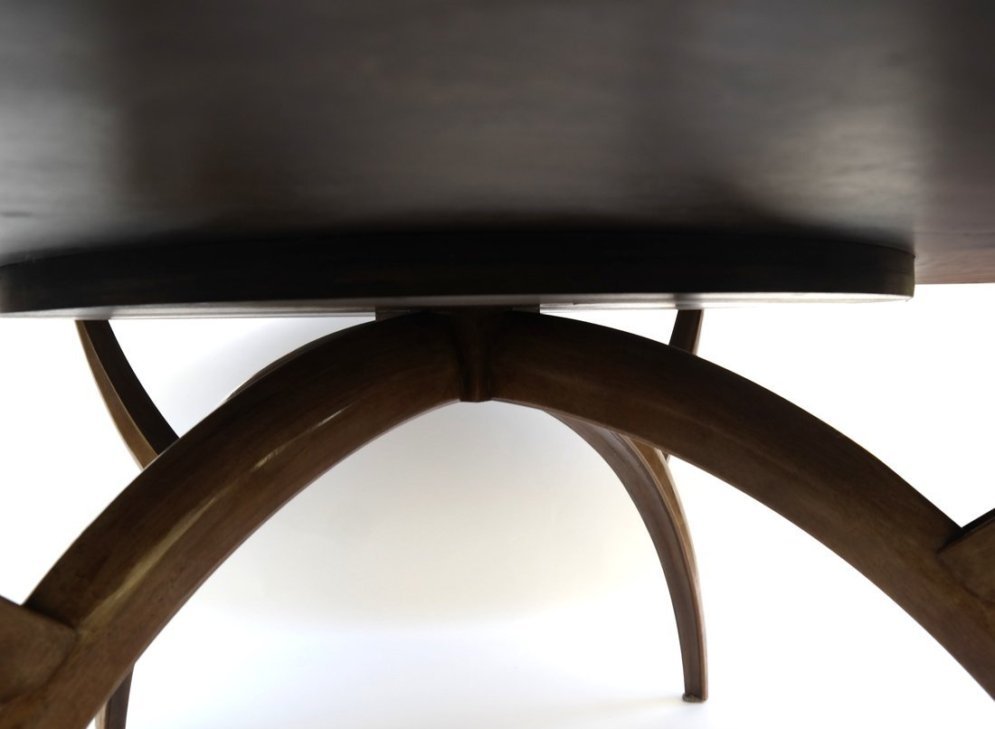 Modern Round Teak Table - 7