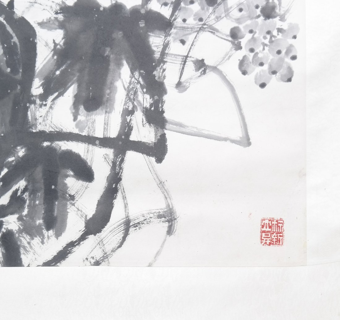 Chinese Scroll Painting with Calligraphy - 5