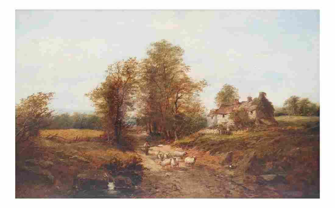 H. Shelborne, Oil on Canvas - Farm Scene