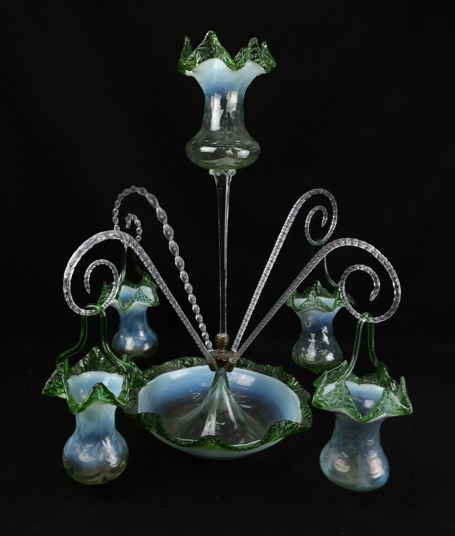 Victorian Glass Epergne