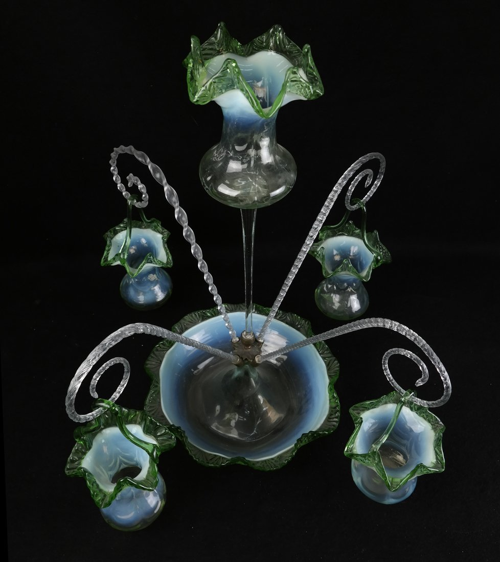 Victorian Glass Epergne - 2