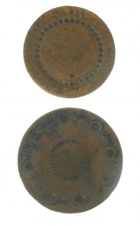 Two Colonial Brass Shank Buttons