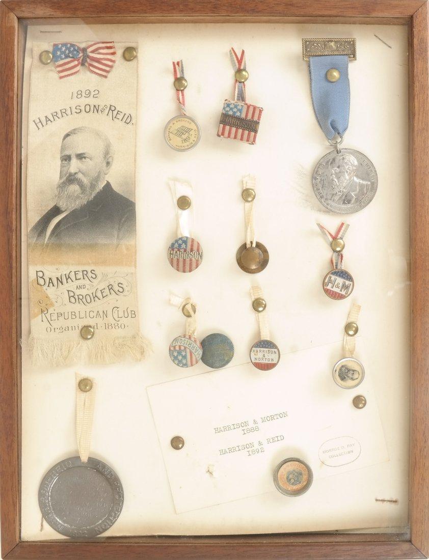 Monroe D. Ray Frame - Benjamin Harrison 1888 & 1892