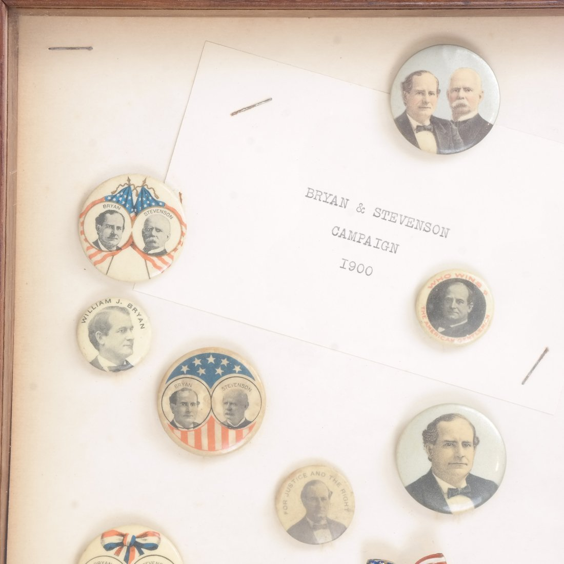 Monroe D. Ray Frame - Bryan and Wooley Campaigns 1900 - 2