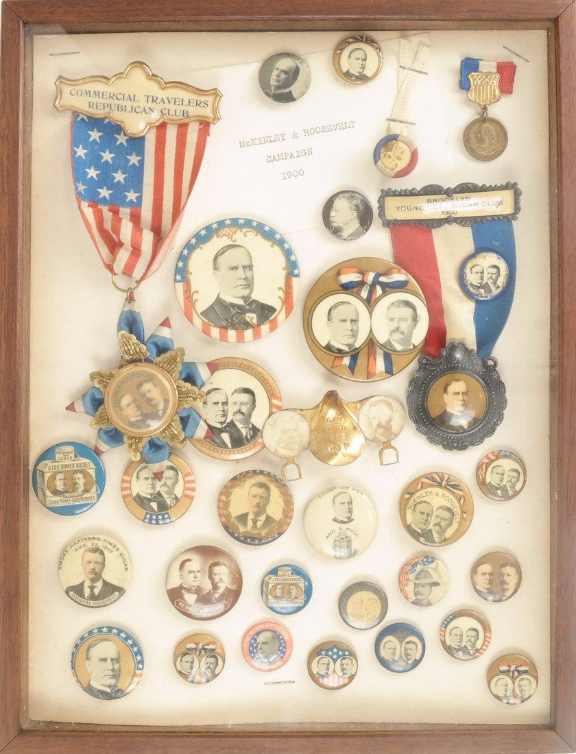 Monroe D. Ray Frame - Wm. McKinley & Theo. Roosevelt