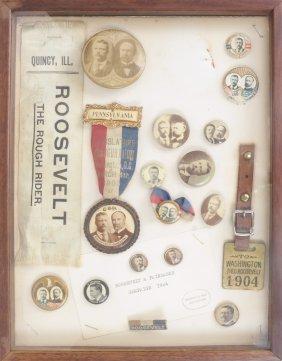 Monroe D. Ray Frame - T. Roosevelt & C.W. Fairbanks