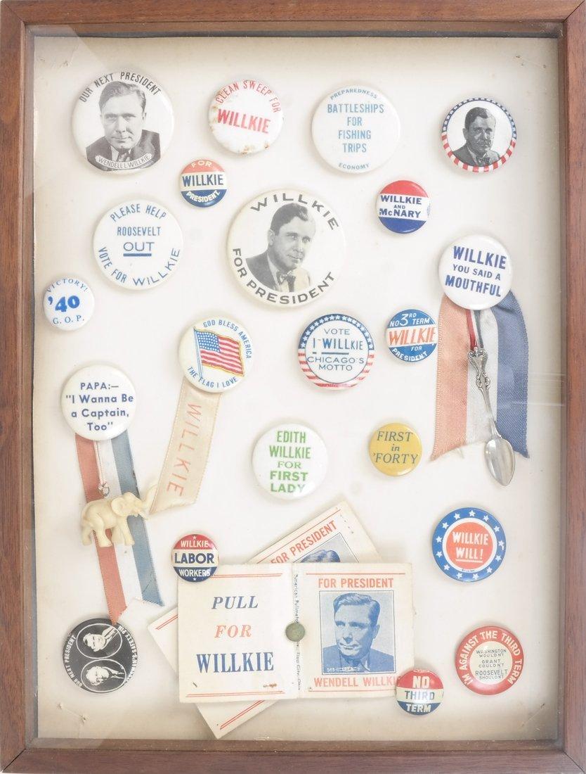 Monroe D. Ray Frame - Wendell Willkie 1940