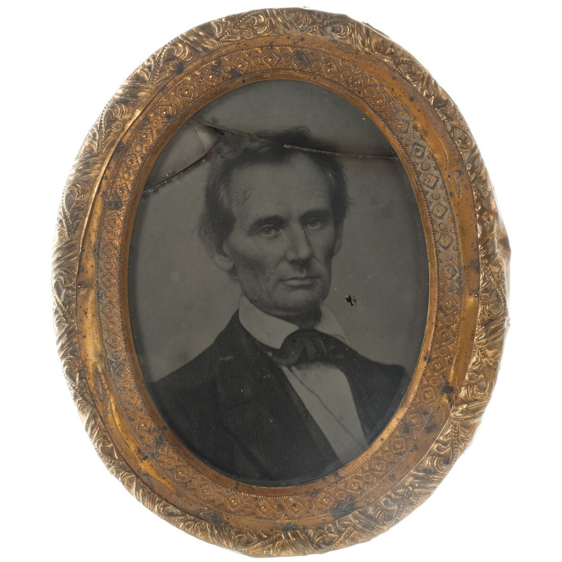 A. Lincoln 1860 George Clark Ambrotype Pin