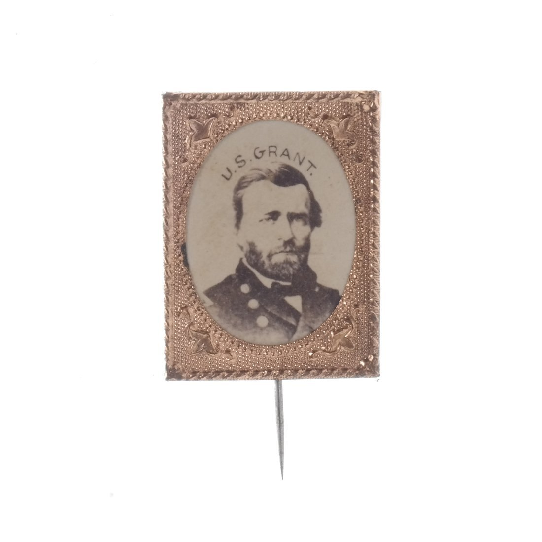 U.S. Grant Five Gem-Size Portrait Stickpins - 3