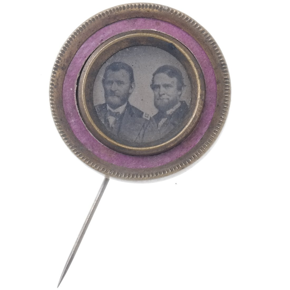 Grant & Colfax 1868 Ferrotype Pinback