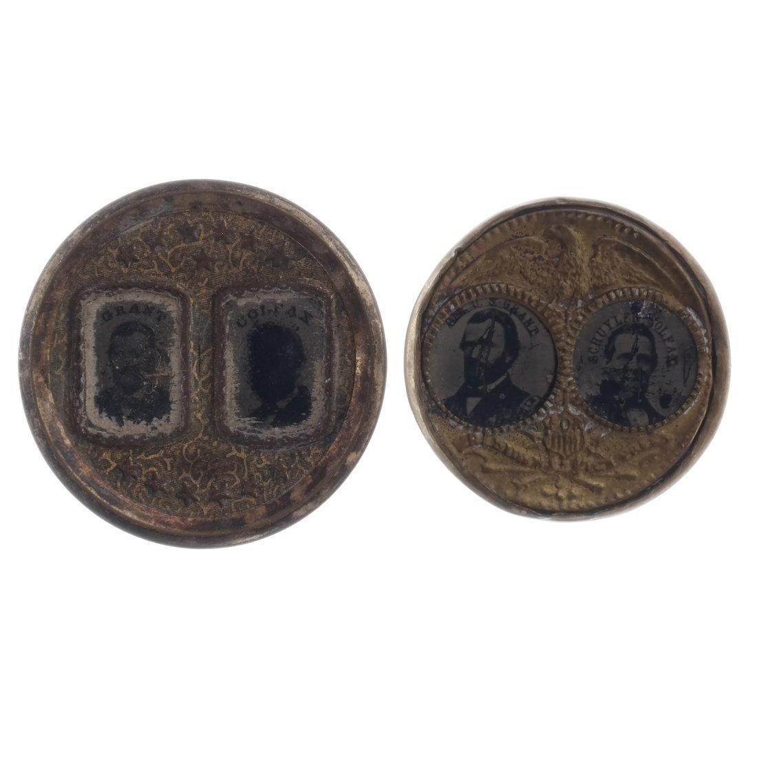 Grant & Colfax Two 1868 Jugate Ferrotypes