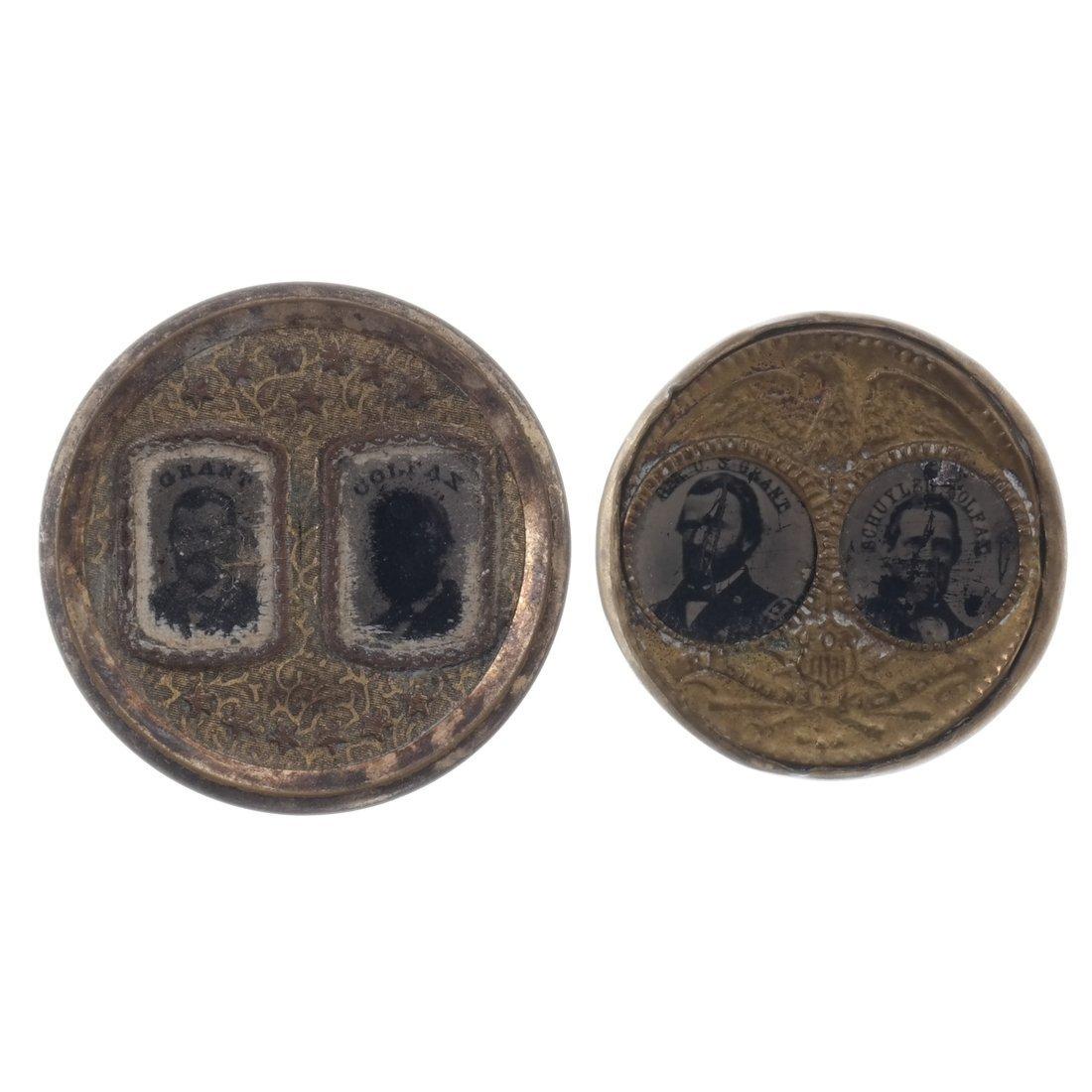 Grant & Colfax Two 1868 Jugate Ferrotypes - 2