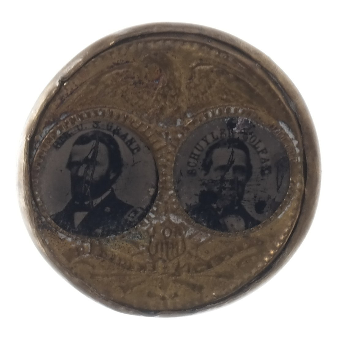 Grant & Colfax Two 1868 Jugate Ferrotypes - 3