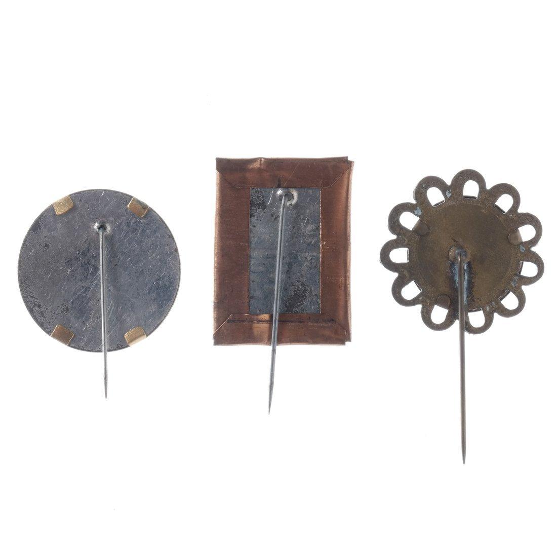 Horace Greeley Three 1872 Albumen Stickpins - 2