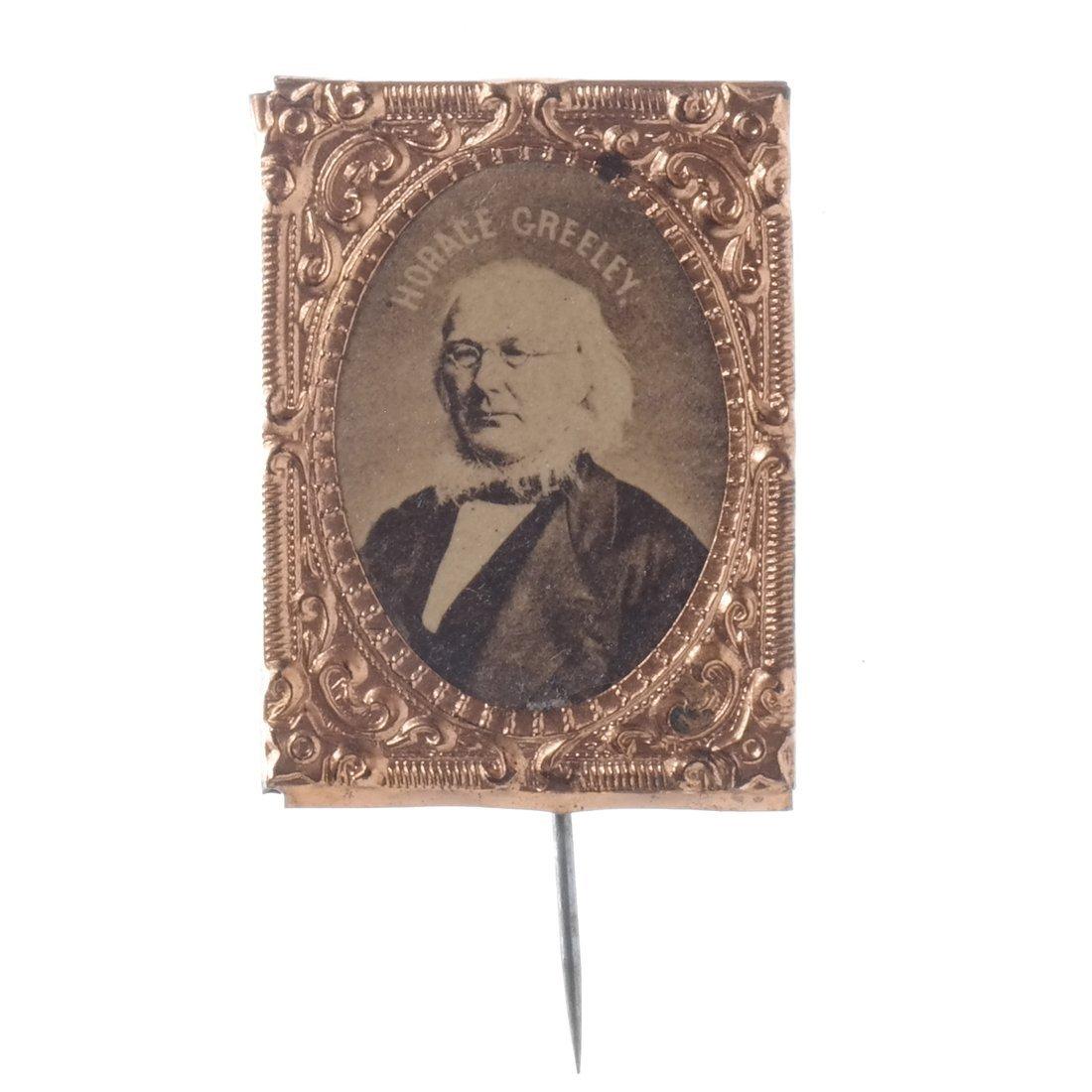 Horace Greeley Three 1872 Albumen Stickpins - 4