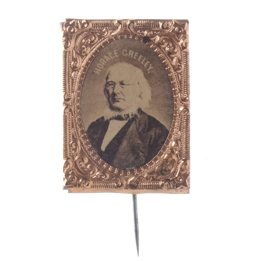Horace Greeley Three 1872 Albumen Stickpins - 4