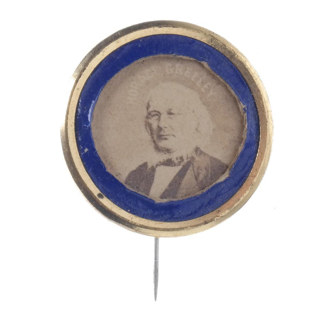 Horace Greeley Three 1872 Albumen Stickpins - 5