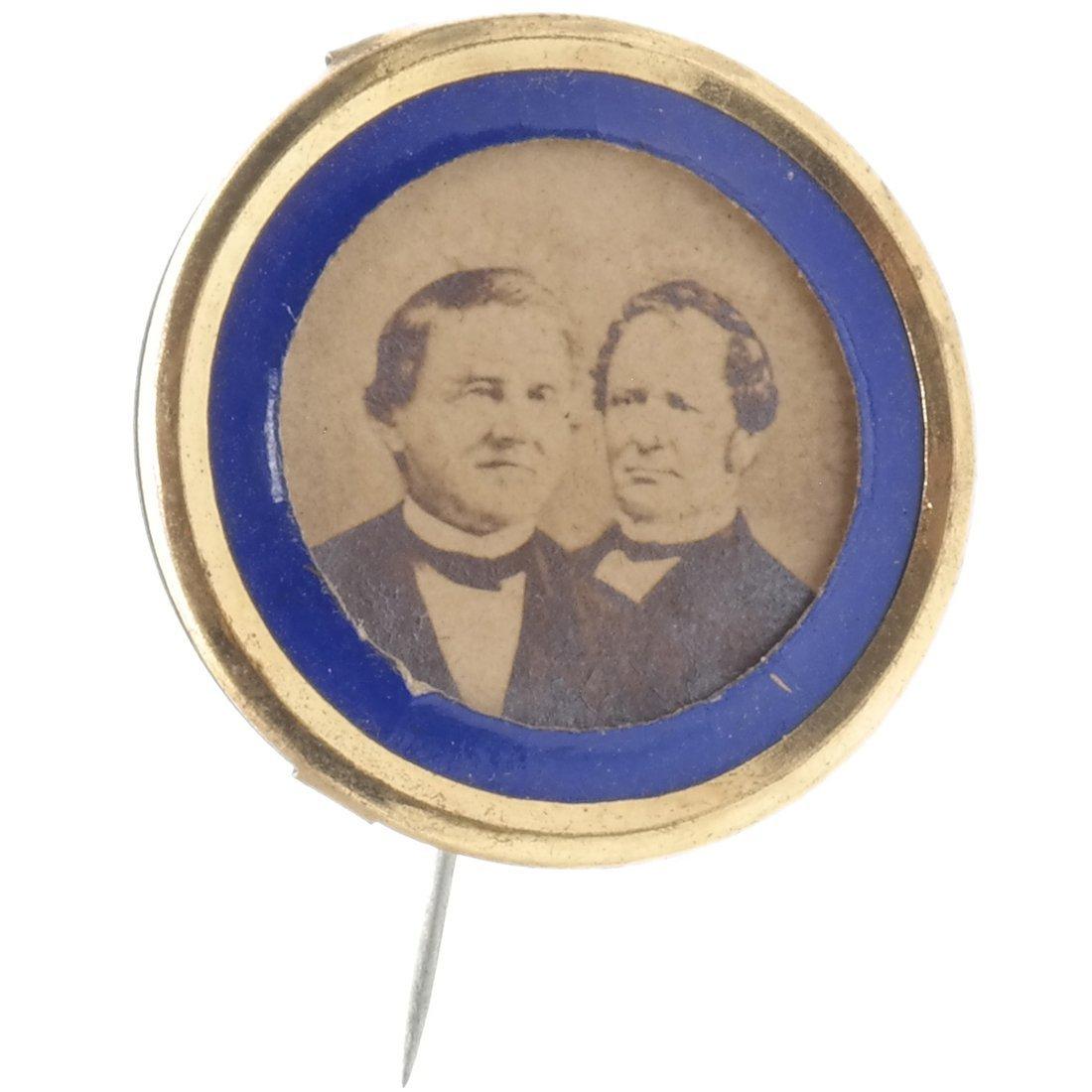 Tilden & Hendricks 1876 Albumen Pinback