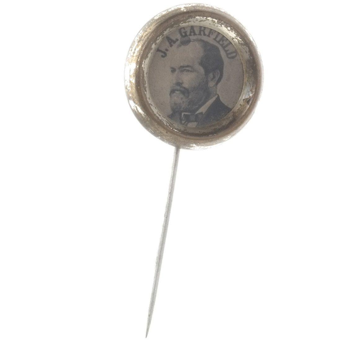 James A. Garfield 1880 Ferrotype Stickpin