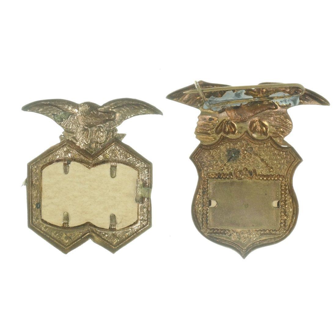 Blaine & Logan Two 1884 Jugate Shell Badges - 2