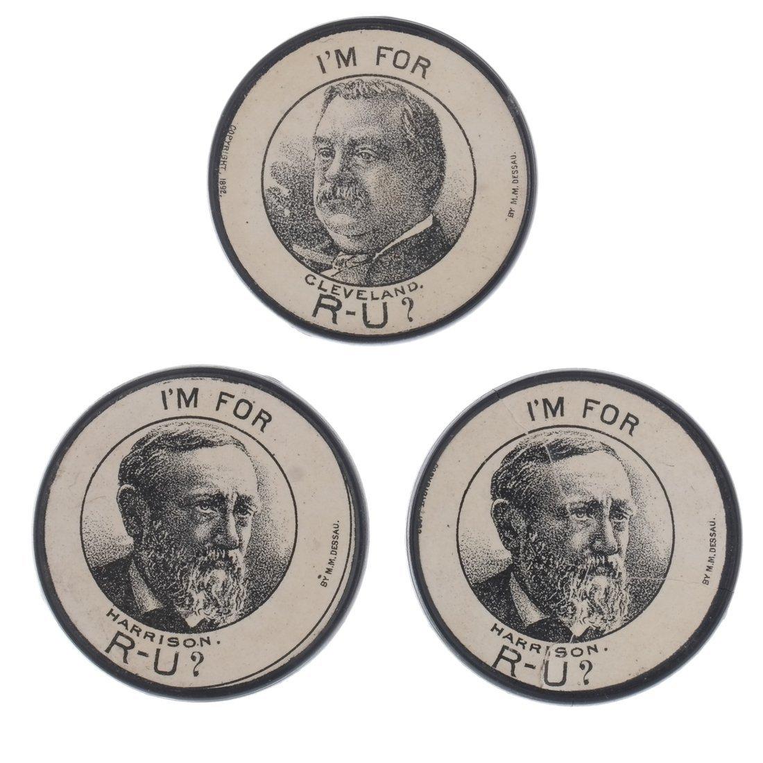 G. Cleveland & B. Harrison 1888 Advertising Poker Chips