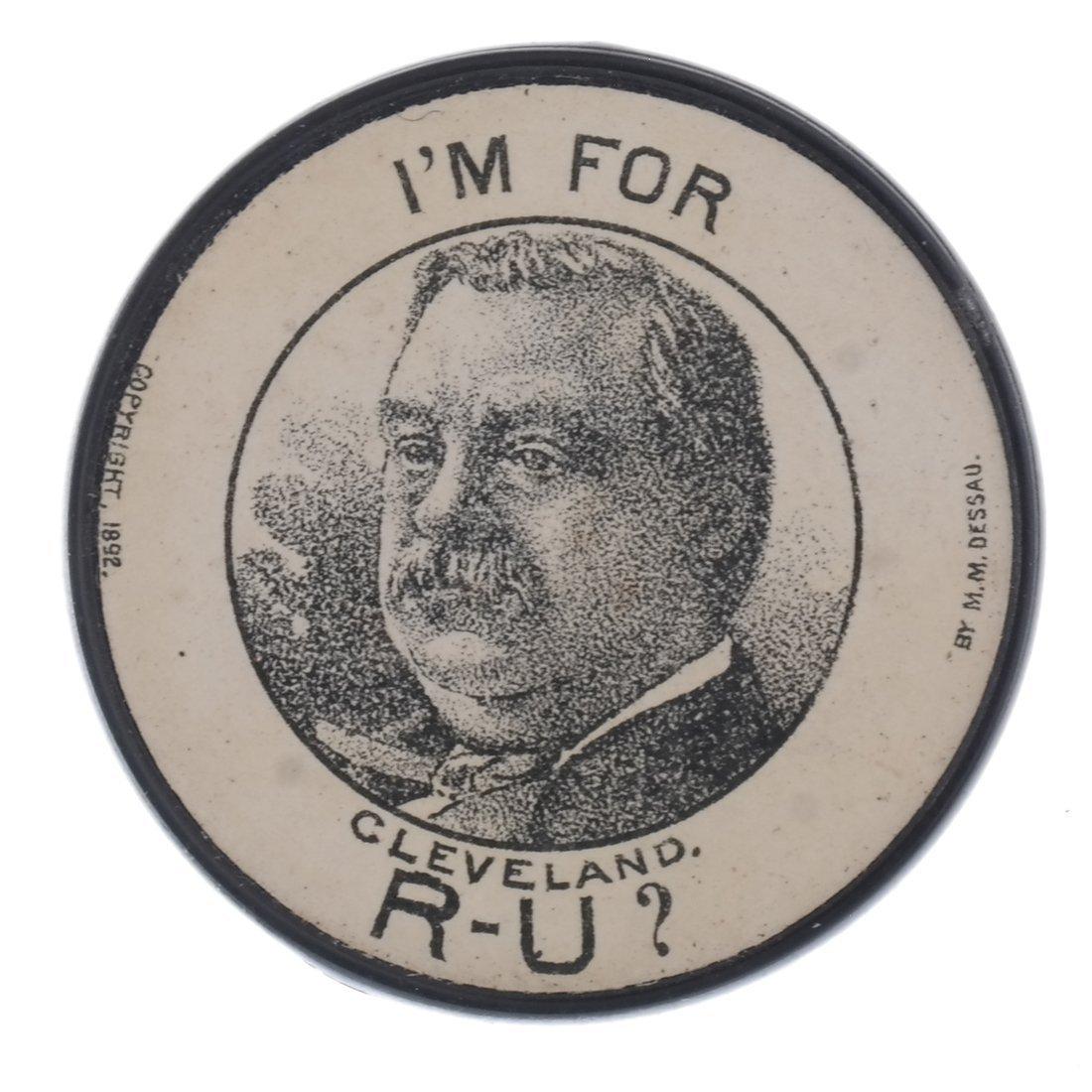 G. Cleveland & B. Harrison 1888 Advertising Poker Chips - 3